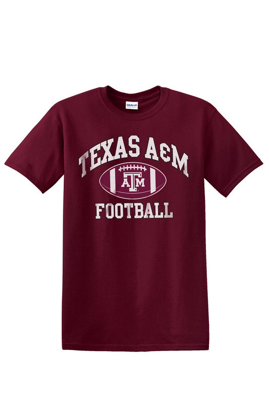 Texas A&M Aggies Tshirt Maroon Football TAMCHSC3162