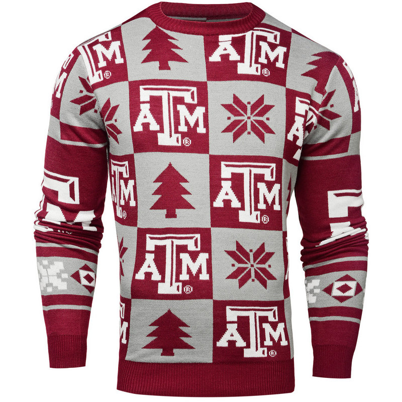 Texas A&M Aggies Ugly Christmas Sweater SWTCNNC16PATTAM