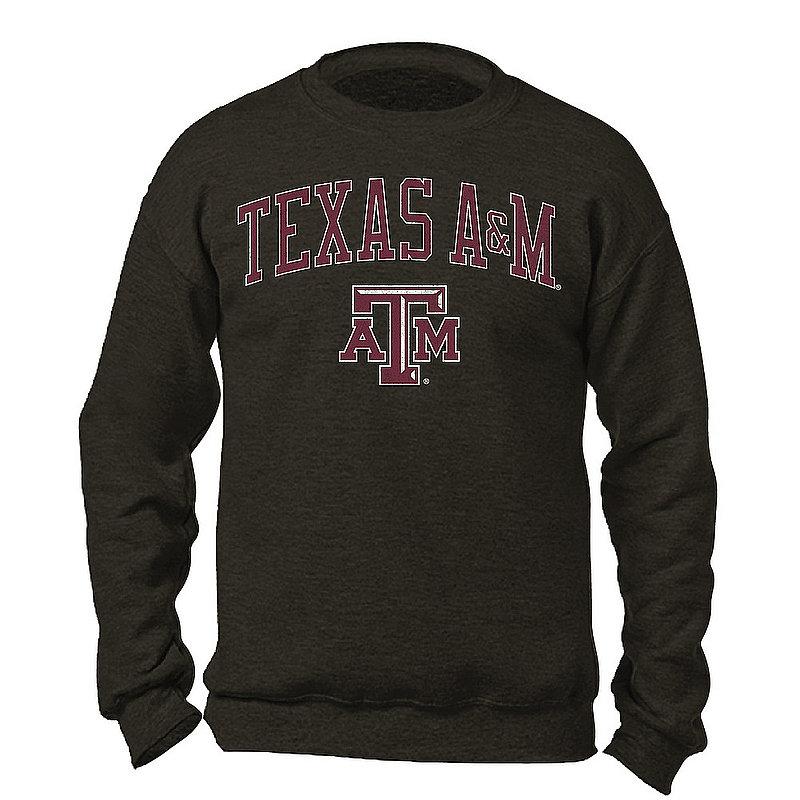 Texas A&M Aggies Vintage Crewneck Sweatshirt Charcoal Victory TAMV2901A-_TV6135_HBK