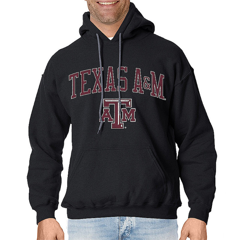 Texas A&M Aggies Vintage Hooded Sweatshirt Charcoal Victory TAMV2901A-_TV6136_HBK