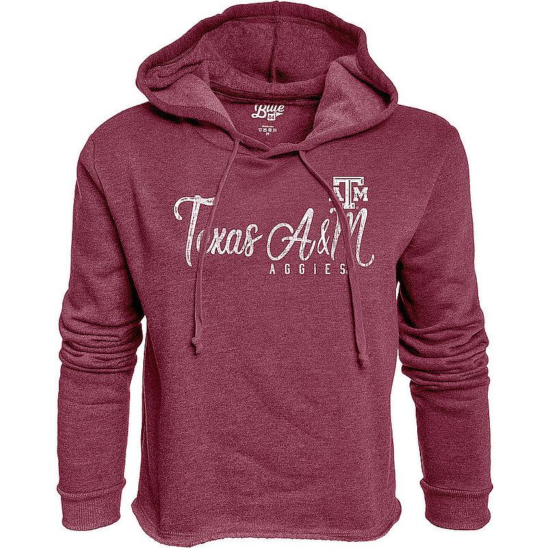 Texas A&M Aggies Womens Crop Hoodie Sweatshirt Vintage T72J_JCCF_MARO