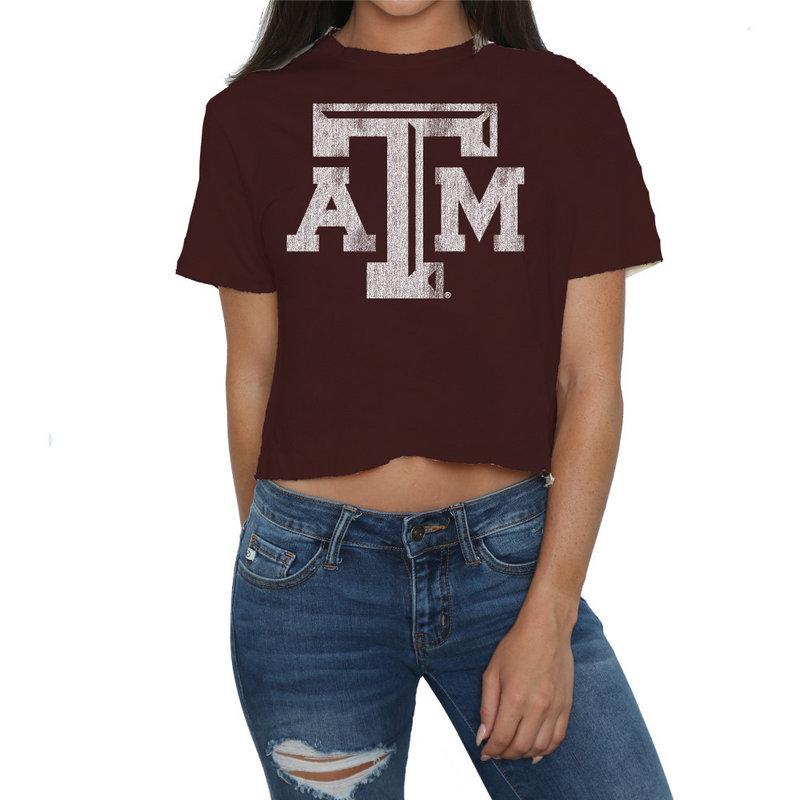 Texas A&M Aggies Womens Crop TShirt