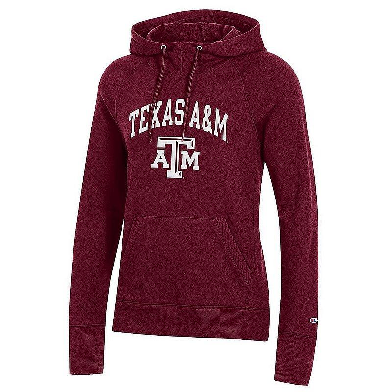 Texas A&M Aggies Womens Hooded Sweatshirt Maroon Arch APC03151556