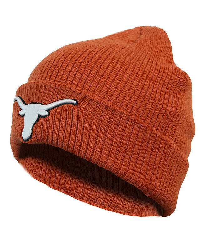 Texas Longhorns Knit Winter Beanie Cuffed Hat Orange UT160310396