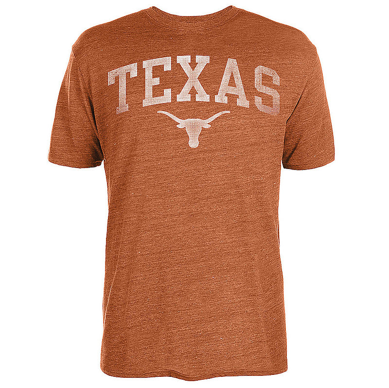 Texas Longhorns Triblend Tshirt Orange Vintage Arch UT200210123