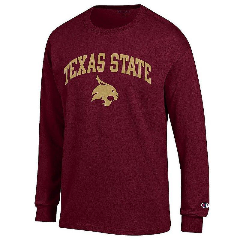 Texas State Bobcats Long Sleeve TShirt Varsity Maroon APC03005018