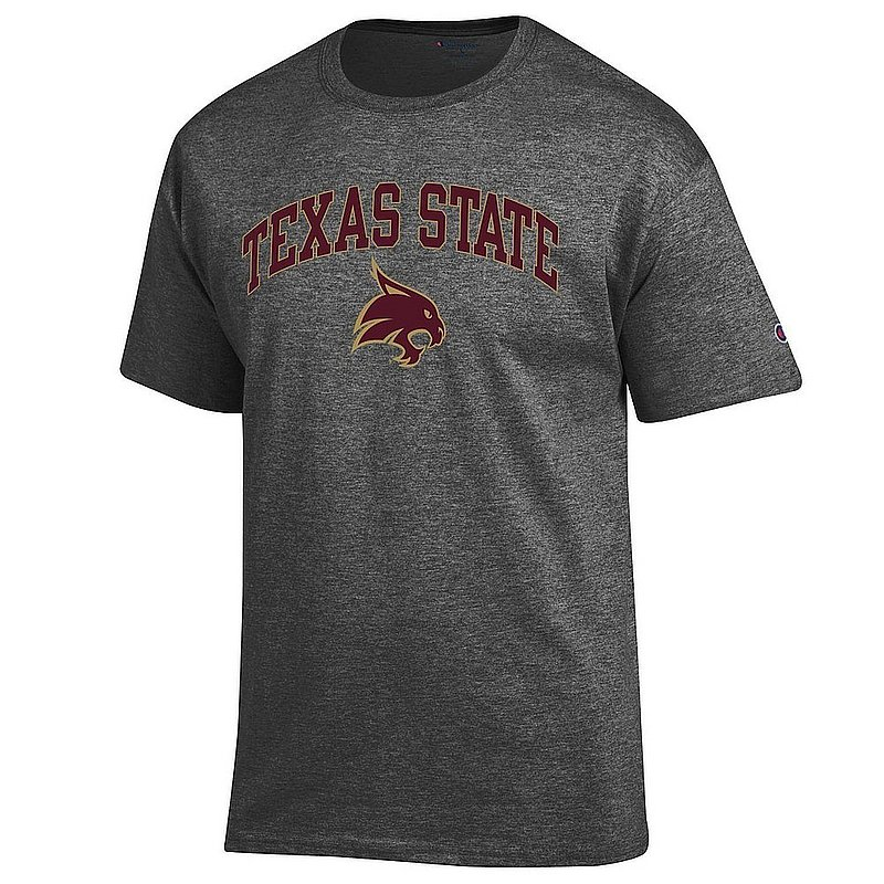 Texas State Bobcats TShirt Varsity Charcoal Arch Over APC03001149*