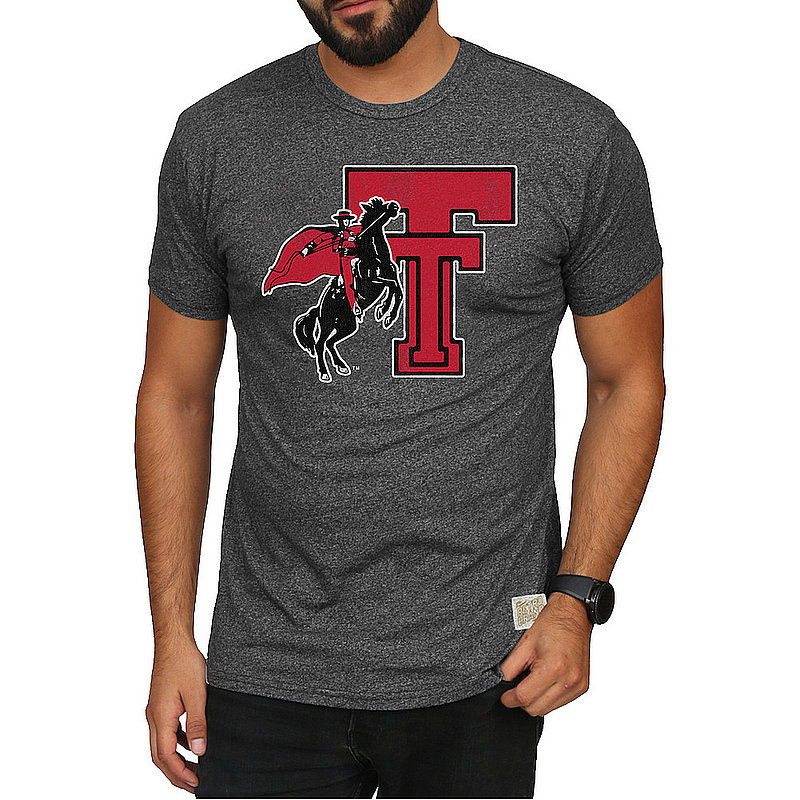 Texas Tech Red Raiders Retro Tshirt Charcoal CTXT613A_RB124M_MTCH