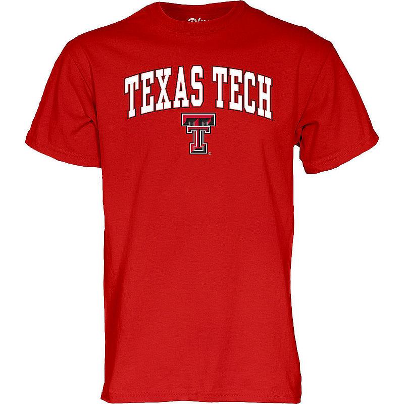 Texas Tech Red Raiders Tshirt Varsity Scarlet Arch Over APC02961901*