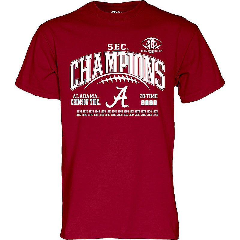 The Blue Brand Alabama Crimson Tide Mens Conference Champs Tshirt 2020 Laces 00000000BMMB5 (The Blue Brand)