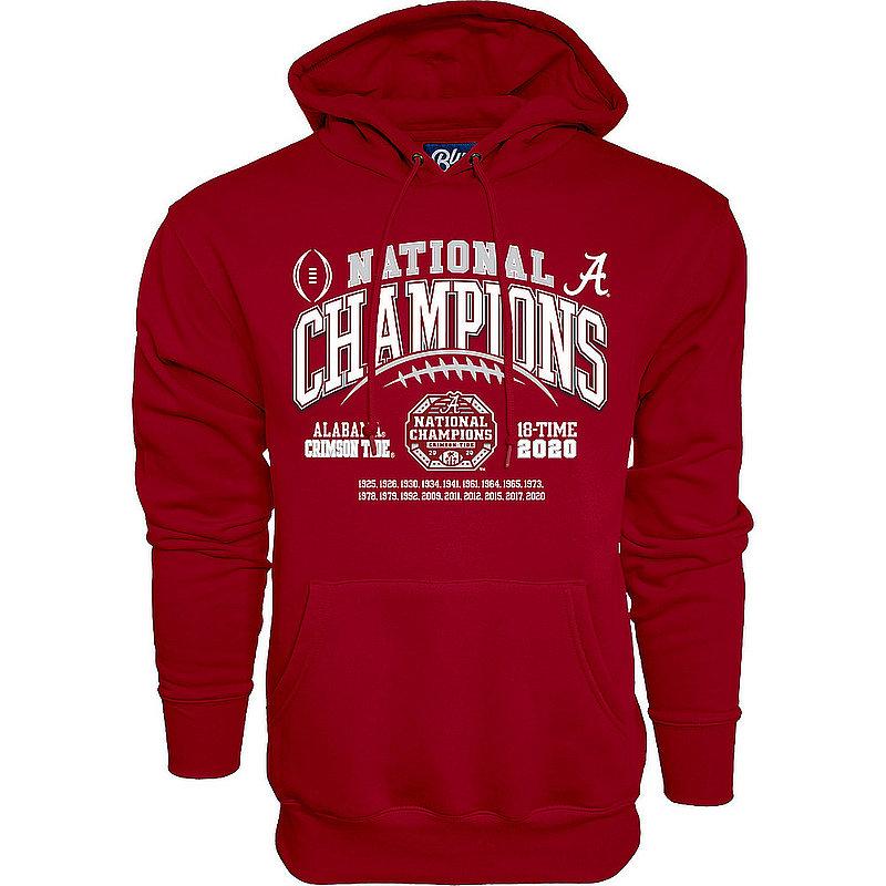 Alabama Crimson Tide National Champs Hoodie 2020-2021 Laces
