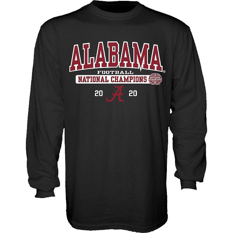 The Blue Brand Alabama Crimson Tide National Champs Long Sleeve T Shirt 2020-2021 Bold Black 00000000BM7G6BIG TALK CFP20 NC-ALA (The Blue Brand)