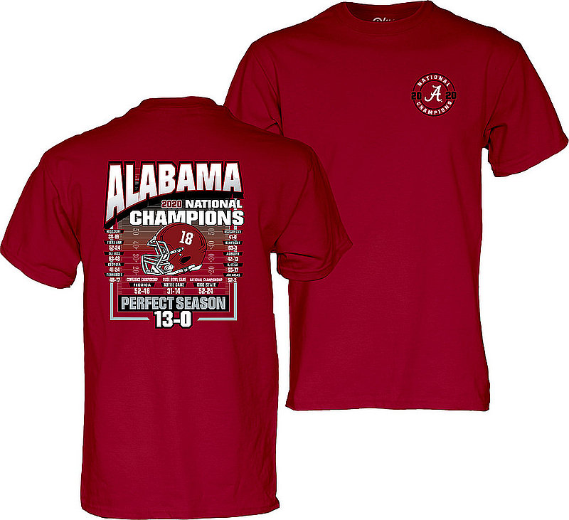 The Blue Brand Alabama Crimson Tide National Champs T Shirt 2020-2021 Schedule 00000000BM7GK	SMACKER CFP20 LC/FB NC-ALA (The Blue Brand)