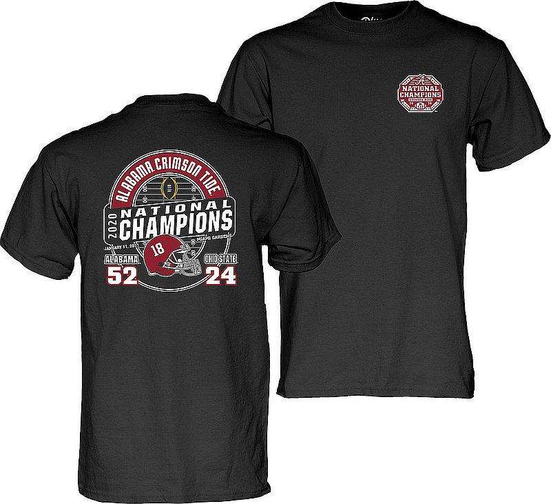 The Blue Brand Alabama Crimson Tide National Champs T Shirt 2020-2021 Score Black 00000000BM799HIGH HO CFP20 LC/FB NC-ALA (The Blue Brand)