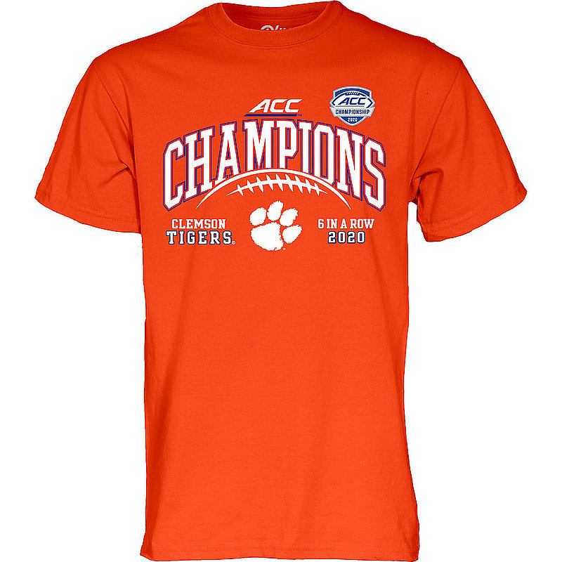 The Blue Brand Clemson Tigers Mens Conference Champs Tshirt 2020 Laces 00000000BMMMS (The Blue Brand)