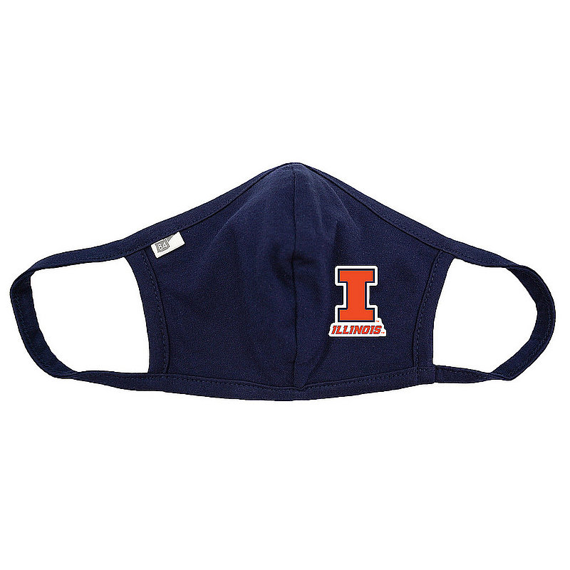 The Blue Brand Illinois Fighting Illini Face Covering Navy BRXNS_MASKP_NAVY (The Blue Brand)
