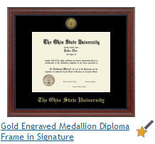 The Ohio State University Diploma Frame DSCH-134692