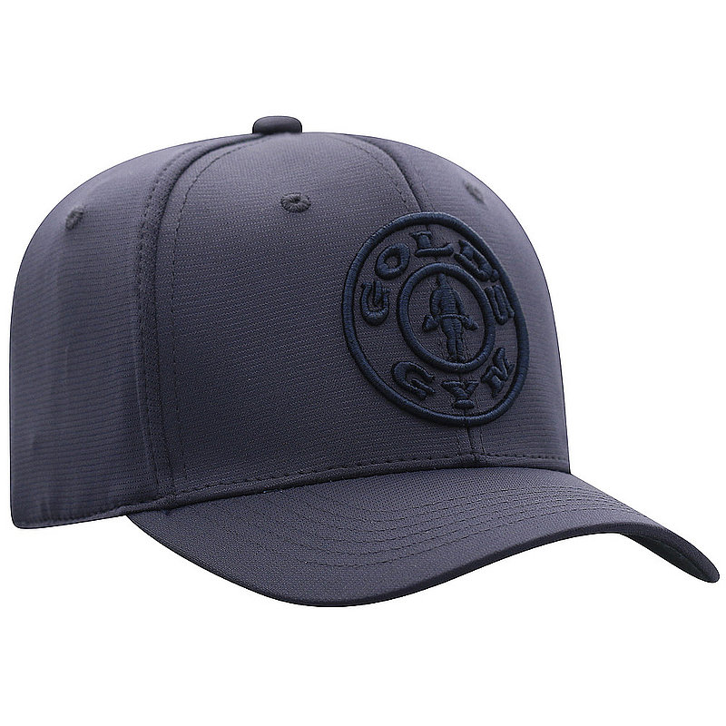 Top Of The World Gold's Gym Fitted Hat Navy IMPCT-GLDG-1FT-NVY (Top Of The World)