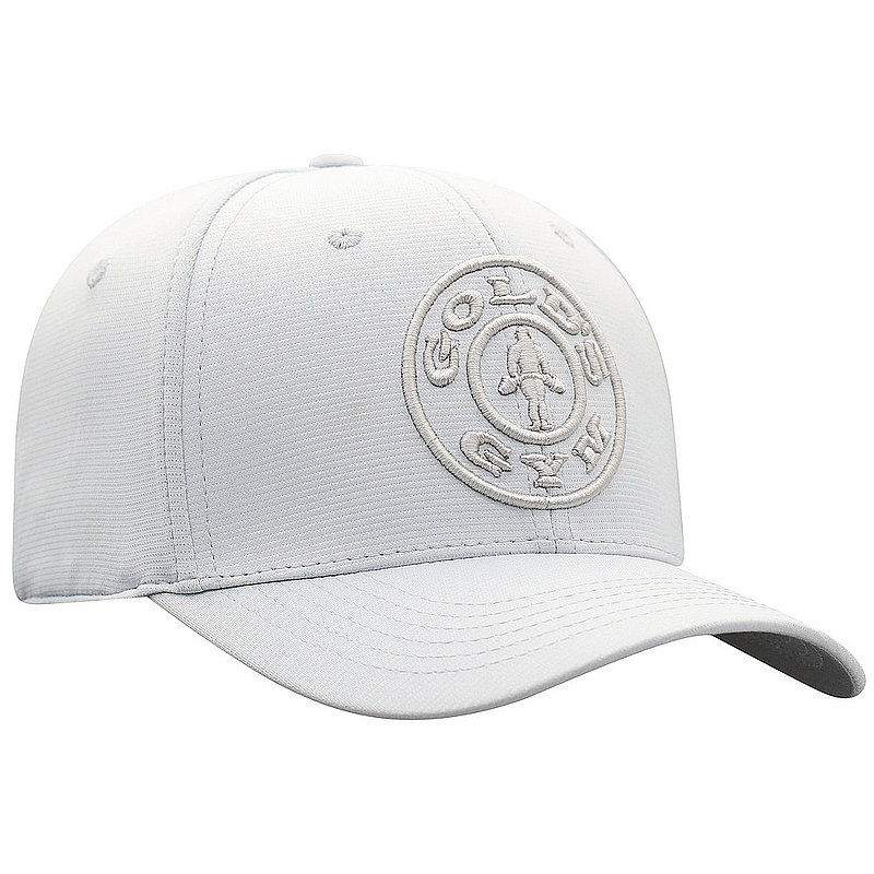 Top Of The World Gold's Gym Fitted Hat White IMPCT-GLDG-1FT-LGY (Top Of The World)