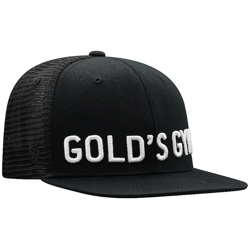 Top Of The World Gold's Gym Snap Back Hat Black PACF4-GLDG-ADJ-BLK (Top Of The World)