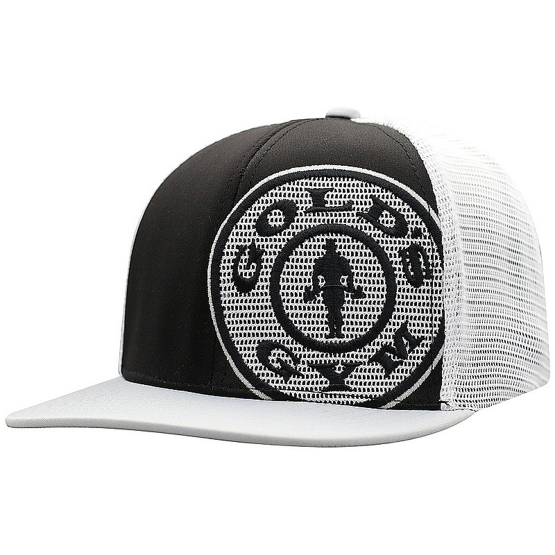 separation shoes 271ac 0214f Top Of The World Gold s Gym Snap Back Hat Black   White BNSH3-GLDG-