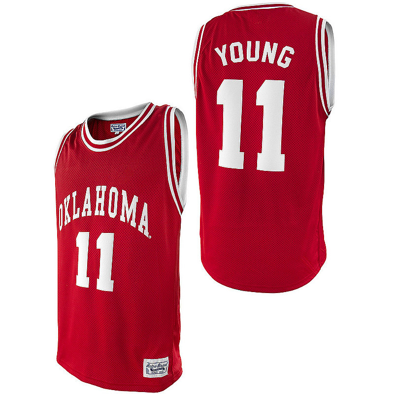 Trae Young Retro Oklahoma Sooners Basketball Jersey RB7027 OKLTYN04A