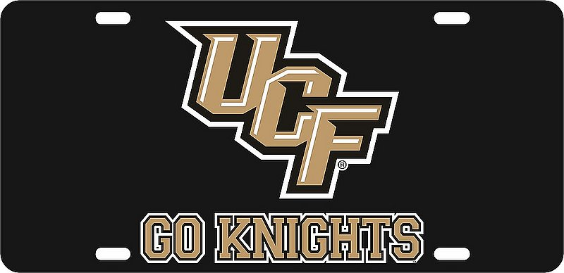 UCF Knights License Plate Black 29181