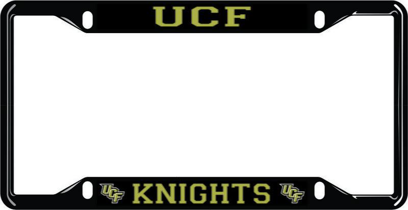 UCF Knights License Plate Frame Black 29178