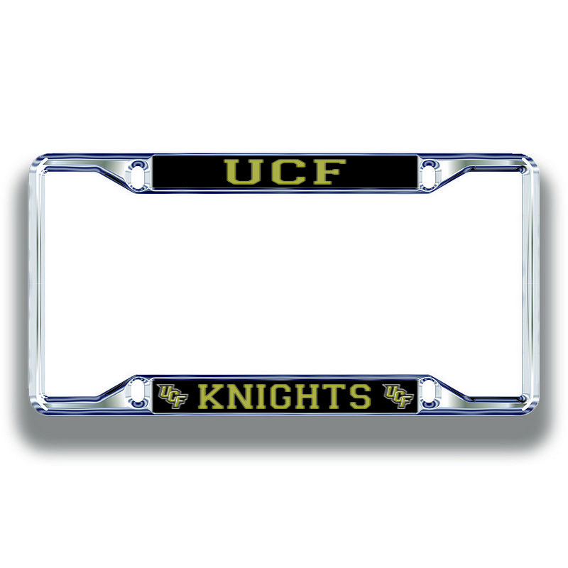 UCF Knights License Plate Frame Silver 29177