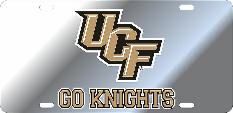 UCF Knights License Plate Silver 29180