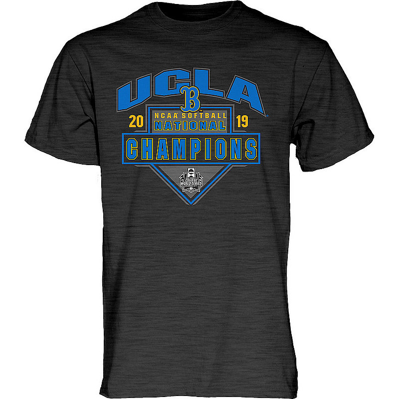 timeless design b5878 f4271 UCLA Bruins National Softball Champions Tshirt 2019 College World Series  Charcoal DRAG BUNT