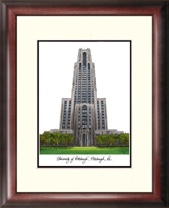 University of Pittsburgh Alumnus Framed Lithograph DSCI-pa993r