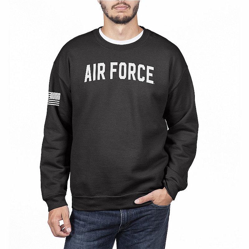 US Air Force Armed Forces Military Crewneck Sweatshirt Black