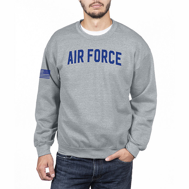 US Air Force Armed Forces Military Crewneck Sweatshirt Gray