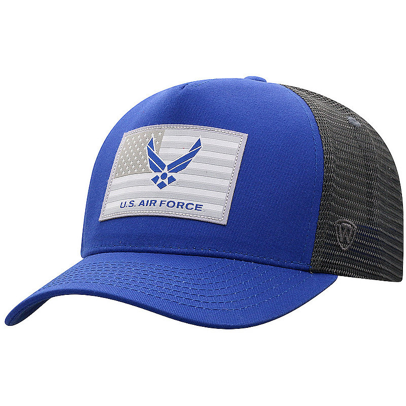 US Air Force Armed Forces Military Flag Snap Back Hat Gray HRZE4-USAF-ADJ-2TN