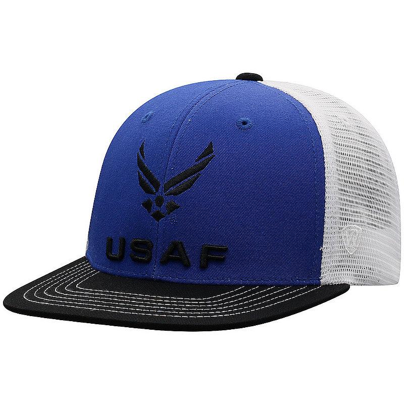 US Air Force Armed Forces Military Flat Bill Hat Logo DLTA1-USAF-ADJ-3TN