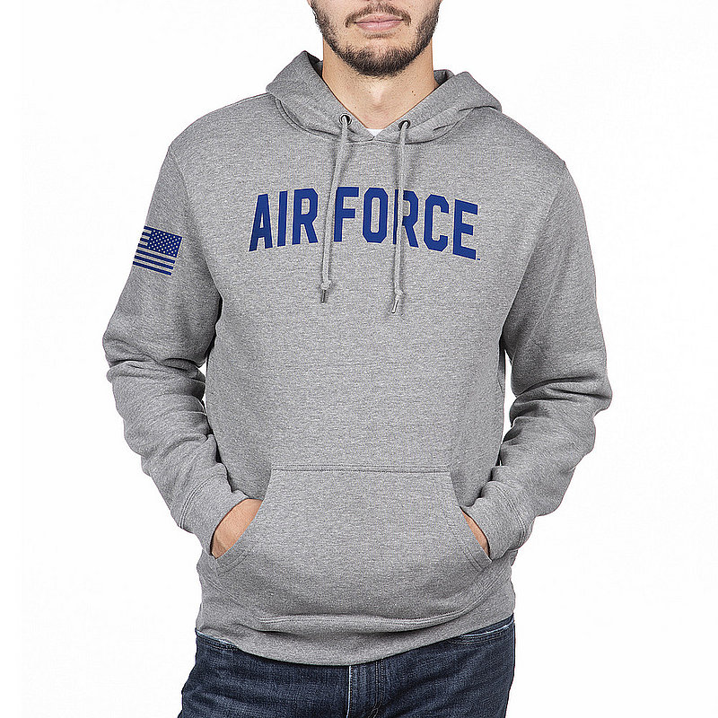US Air Force Armed Forces Military Hooded Sweatshirt Gray