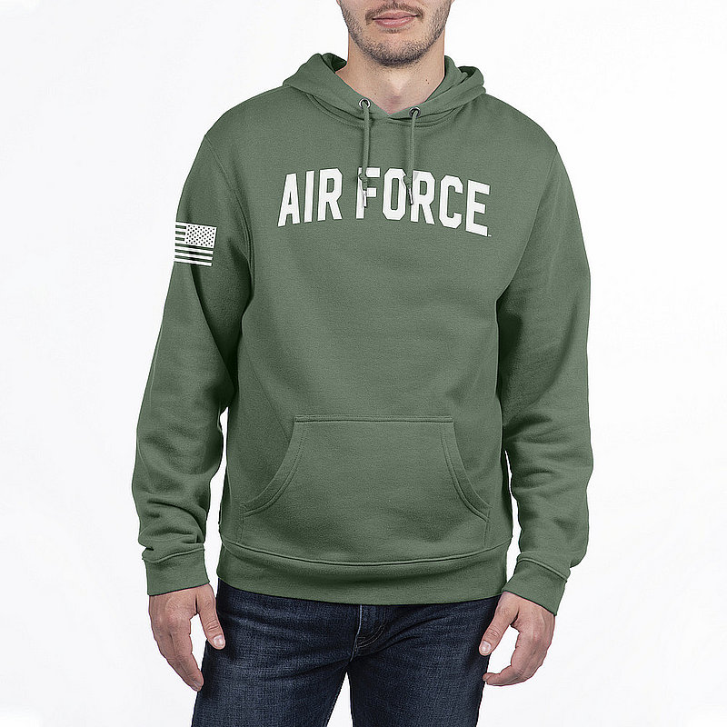 US Air Force Armed Forces Military Hooded Sweatshirt Military Green