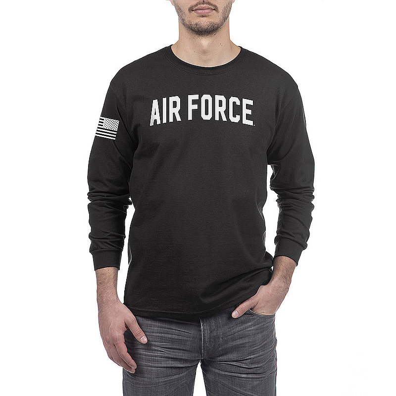 US Air Force Armed Forces Military Long Sleeve Tshirt Black