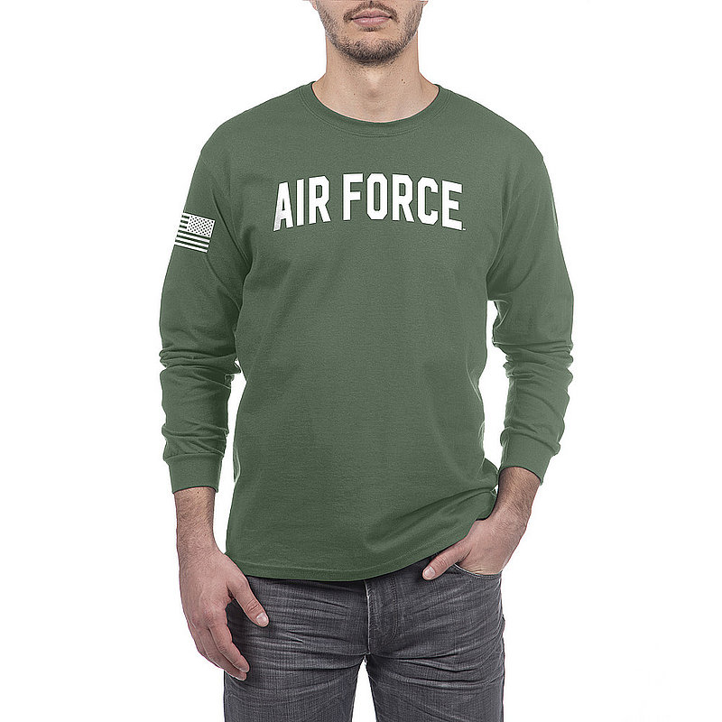 US Air Force Armed Forces Military Long Sleeve Tshirt Military Green