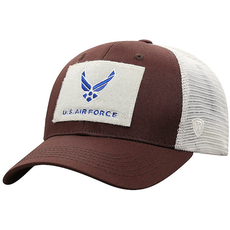 US Air Force Armed Forces Military Snap Back Hat Brown CRLI-USAF-ADJ-2TN