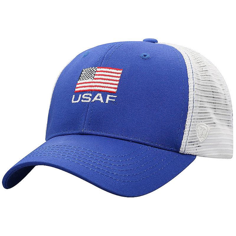 US Air Force Armed Forces Military Snap Back Hat Flag Blue OSCR-USAF-ADJ-2TN