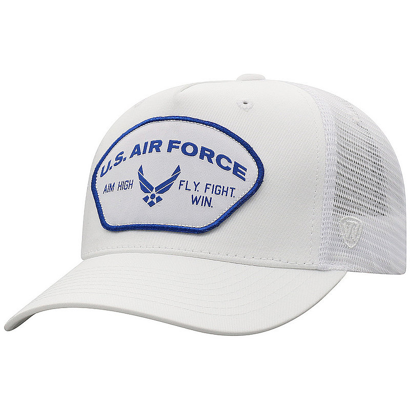 US Air Force Armed Forces Military Snap Back Hat White WHKY-USAF-ADJ-WHT