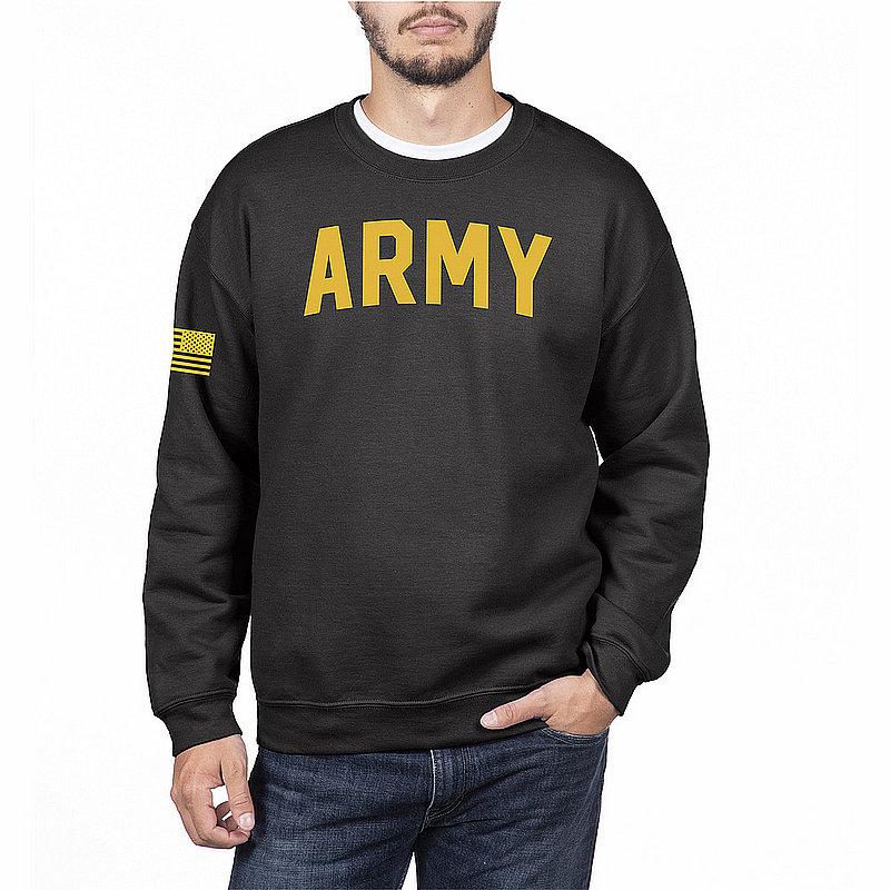 US Army Armed Forces Military Crewneck Sweatshirt Black