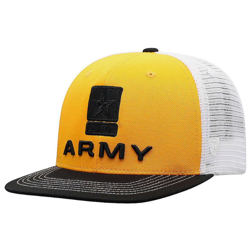 US Army Armed Forces Military Flat Bill Hat Logo DLTA1-USARM-ADJ-3TN