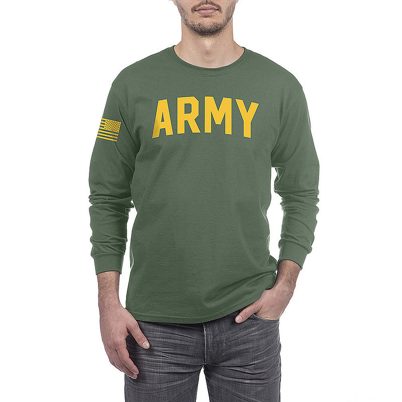 US Army Armed Forces Military Long Sleeve Tshirt Military Green