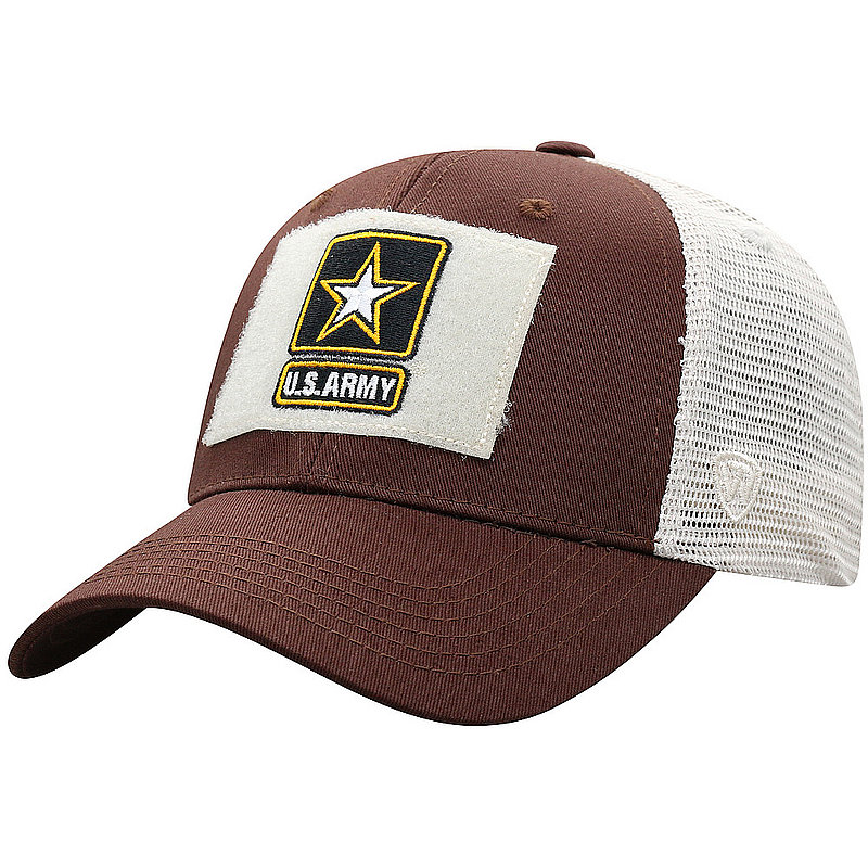 US Army Armed Forces Military Snap Back Hat Brown CRLI-USARM-ADJ-2TN