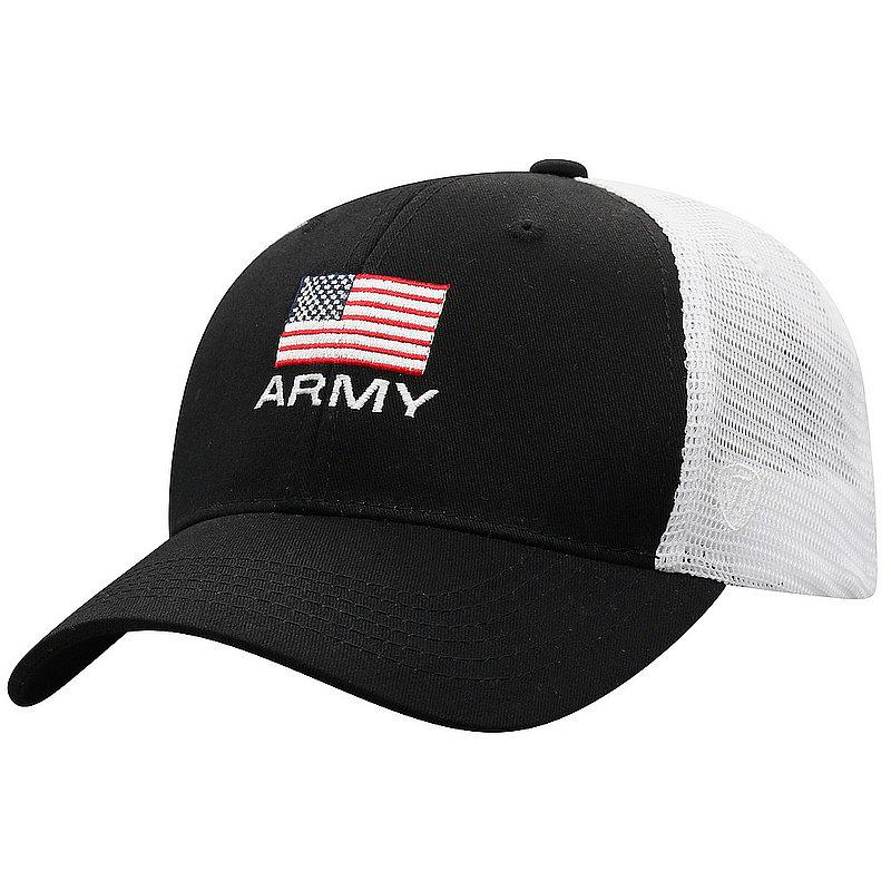 US Army Armed Forces Military Snap Back Hat Flag Black OSCR-USARM-ADJ-2TN