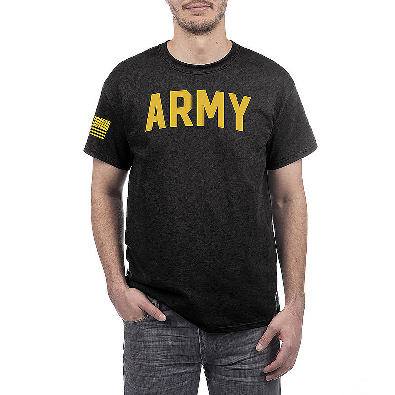 US Army Armed Forces Military Tshirt Black