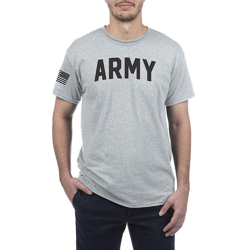US Army Armed Forces Military Tshirt Gray